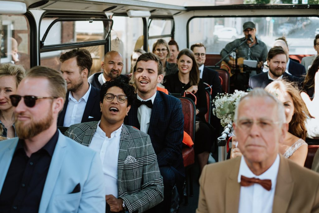 Hochzeit mit Busfahrt im Münsterländer
