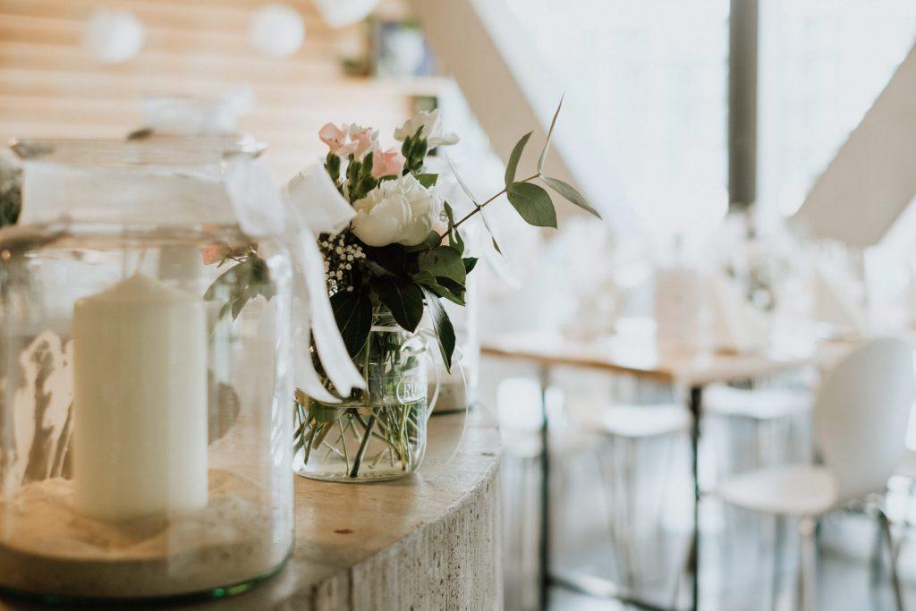 Hochzeitsdekoration in der Hafenkäserei