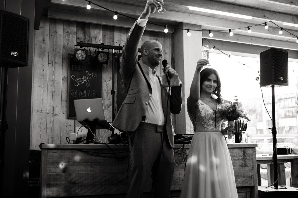 Hochzeitsfeier Ansprache des Brautpaares